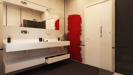 003 - Interior render, Private Bathroom